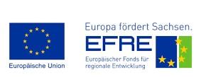 Logo: EFRE - Europa fördert Sachsen